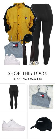 """Untitled #1413"" by lulu-foreva ❤ liked on Polyvore featuring Tommy Hilfiger and NIKE"