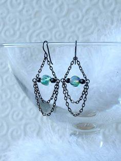 Earrings by HandmadeEarringsUk on etsy, using Unkamen beads.