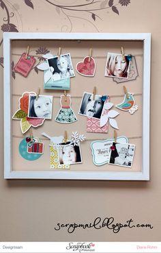 Inspirationsgalerie Home Deko Werkstatt - Scrapbook Werkstatt - Ein Rahmen gestalten mit Diana Rohm