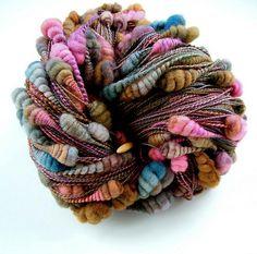 Core spun coiled beehive yarn | by B.eňa