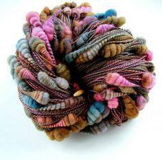 Core spun coiled beehive yarn | by B.eňa