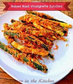 Baked Basil Vinaigrette Zucchini | Seduction In The Kitchen