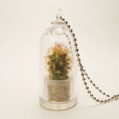 Texas Windowsill Cacti Necklace  by Gem Sprouts - interesting!