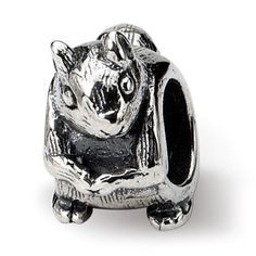 Sterling Reflections Squirrel Bead