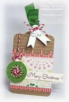 Merry Christmas Tag by mom2n2 - Cards and Paper Crafts at Splitcoaststampers