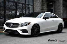 Mercedes E-Class Coupe with Savini Wheels exclusively from Butler Tires and Wheels in Atlanta, GA - Image Number 11092 Mercedes E Class Coupe, Mercedes Benz Slk, Mercedes Benz Models, Mercedes Car, E Class Amg, Mercedes Black, Aston Martin Vanquish, Pretty Cars, Car Goals