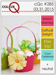 colourQ: colourQ challenge #285...Melon Mambo, Daffodil Delight, Kiwi Kiss, Cool Caribbean