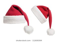9ffcd998ba8b9 Santa s hats or caps collection isolated on white