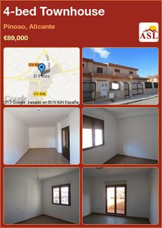 4-bed Townhouse in Pinoso, Alicante ►€89,000 #PropertyForSaleInSpain