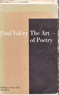 Paul Valérys The Art of Poetry - Paul Rand for Bollingen