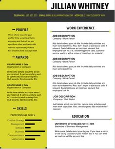 Page Resume Template For Word Navy Pop By Colourpopresume
