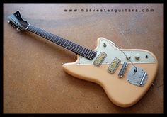 HARVESTER - bespoke guitars - repairs - modifications - COMPLETED INSTRUMENTS - Pinky - Shell Pink Goldthwait Shortscale