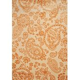 Found it at Wayfair - Sonoma Tangerine/Ivory Hinsley Floral Area Rug