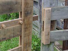 Beautiful rustic gate latch