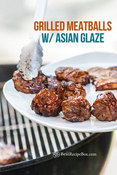 This Asian Glazed Grilled Meatballs recipe is really quick and easy to make at home! Start Summer the right way!