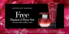 Free Passion 2 Piece Set with your $60 order.  Offer expires midnight 2/15/16.  Use code PASSION.  http://marionfielder.avonrepresentative.com/ #coupon #passion #free #Avon