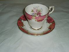 Vintage Paragon china vintage teacup and saucer by DivaDecades