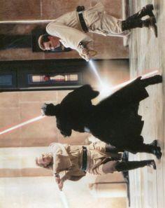 Star Wars Screenshot - Fight Scene w/ Liam Neeson, The Phantom Menace, & Ewan McGregor (10 x 8)