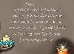 Let Your Light Shine, Light Up, Everything Is Possible, Dream Big, Lisa, Australia, Candles, Let It Be, Collection