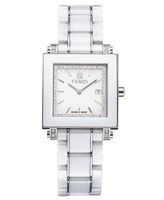 Fendi Watch, Women's White Ceramic Bracelet F622140DDC - Women's Watches - Jewelry & Watches - Macy's