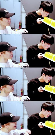 ♡ he spet it out immediately & then said it was delicious.... Funny Jinie....