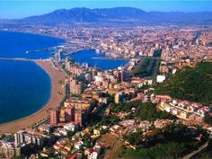 Sightseeing in Malaga, Spain, is wonderful. As a visitor t Malaga, you will feel like you are back in the days of Don Quixote and Sancho Panza. Costa Del Sol Spain, Tenerife, Oh The Places You'll Go, Places To Travel, Malaga City, Malaga Beach, Spain Travel Guide, Location Villa, Spain Holidays