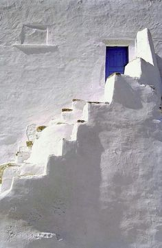 Blue door in Amorgos island