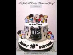 BTS CAKES - YouTube Bts Happy Birthday, 16 Birthday Cake, 18th Birthday Party, Themed Birthday Cakes, Themed Cakes, Bts Cake, Sweet 16 Cakes, Bts Birthdays, Cake Youtube