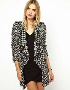 BA&SH - Boucle Coatigan with Leather Tie Belt www.us.asos.com $381.13