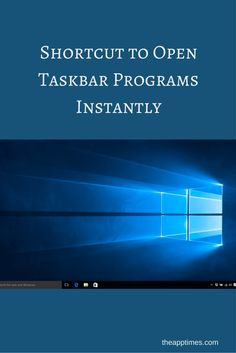 Check out this quick keyboard shortcut to open taskbar programs instantly on your Windows PC. Works in Windows 8.1 and Windows 10.