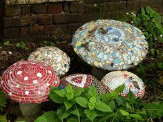 Awesome mosaic mushrooms