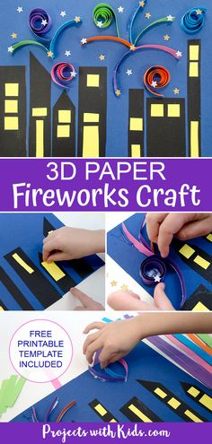 Fun Crafts To Do, Easy Paper Crafts, Craft Projects For Kids, July Crafts, Summer Crafts, Holiday Crafts, Art Projects, Autumn Activities For Kids, Craft Activities