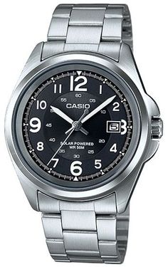 59f3cd7ee81a CASIO Mod. MTP-S101D-1B SS Case. SOLAR POWERED. Day Date.