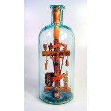 Jesus on the Cross in bottle