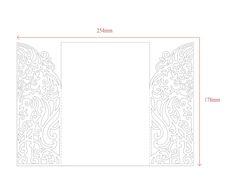 5x7'' Gate Fold Door Wedding Invitation Card by NarisariDigitalArt