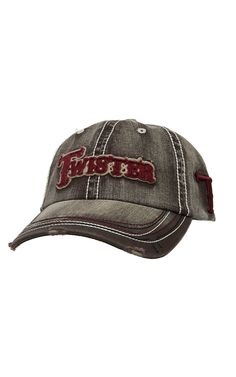 Twister® Distressed Brown with Maroon Logo Cap