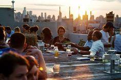 rooftop dinner parties