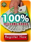 EuroCasinoBet issues 100% bonus on first deposit up to a maximum deposit of €200