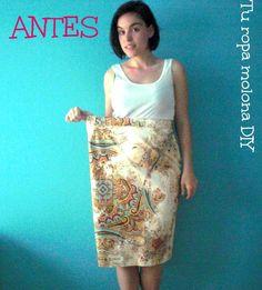 DIY: renueva una falda vieja con unas cremalleras.