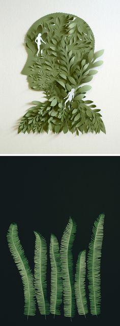 Paper illustration | cut paper art | paper craft | nature illustration
