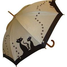 'Black Cats' umbrella, gato, cat, gatos, cats, prendas, clothes, accesorios