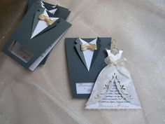 "25 Twentyfive pcs of Handmade Bridal Wedding Invitations ""Bride and Groom"" on Etsy, $112.50"