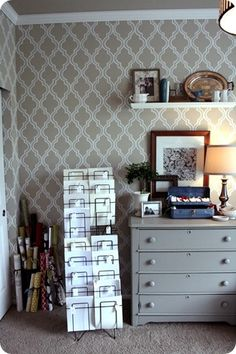 painted wall-paper DIY