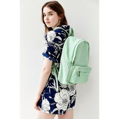 BDG Canvas Backpack ($29) ❤ liked on Polyvore featuring bags, backpacks, mint, zip bags, mint bag, canvas rucksack, bdg bags and backpacks bags