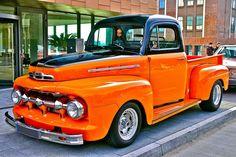 Custom Ford by cmdpirxII on DeviantArt 1952 Ford Truck, Old Ford Trucks, Old Pickup Trucks, Hot Rod Trucks, New Trucks, Custom Trucks, Cool Trucks, Classic Pickup Trucks, Truck Paint