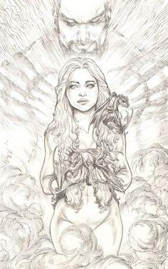 Daenerys Targaryen, Khaleesi from ~ justbuzz on deviantART targaryen tattoo - D. - Daenerys Targaryen, Khaleesi from ~ justbuzz on deviantART targaryen tattoo – Daenerys Targaryen - Game Of Thrones Tattoo, Dessin Game Of Thrones, Arte Game Of Thrones, Art Sketches, Art Drawings, Illustrator, Game Of Thones, Desenho Tattoo, Fan Art