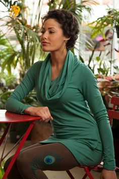 Synergy Organic Clothing | Bamboo Cowl Neck Tunic - Solid - Shop By Appliqué