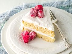 This classic vanilla coconut flour cake is so beautiful! Many people have a hard time working with coconut flour because it is very dry and crumbly...