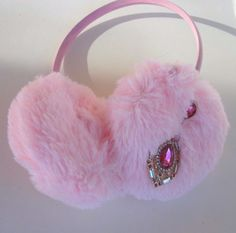 Scream Queens Pink Ear Muffs Hearts Earmuffs Earrings Pearl Headband Costume #earmuffs #halloween