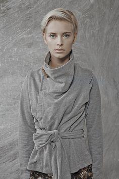 veste chaude grise